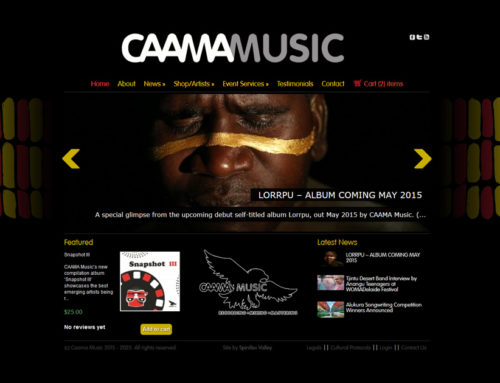 CAAMA Music Website Reloaded